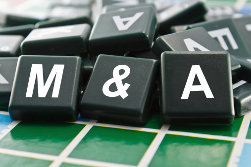 Merger and Acquisition (M&A) word concept