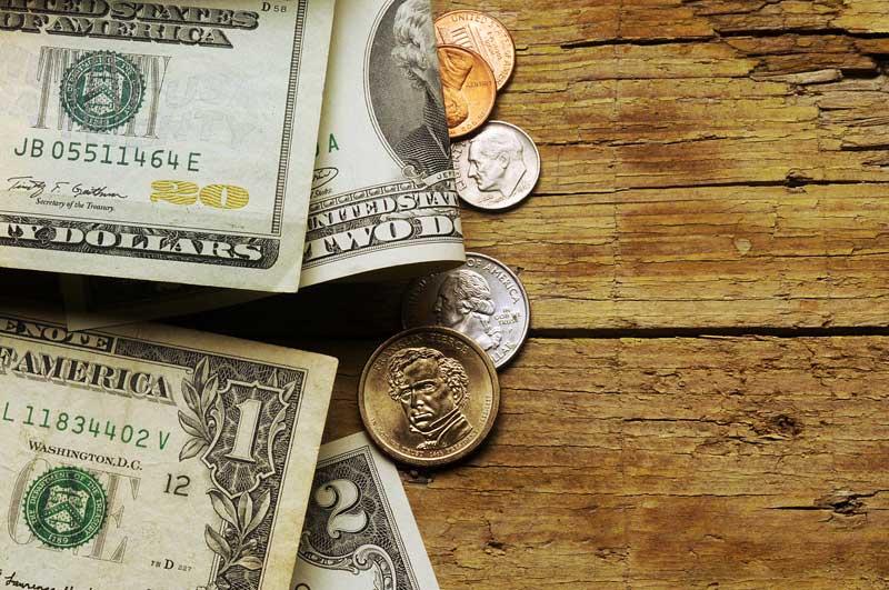 Money on Table
