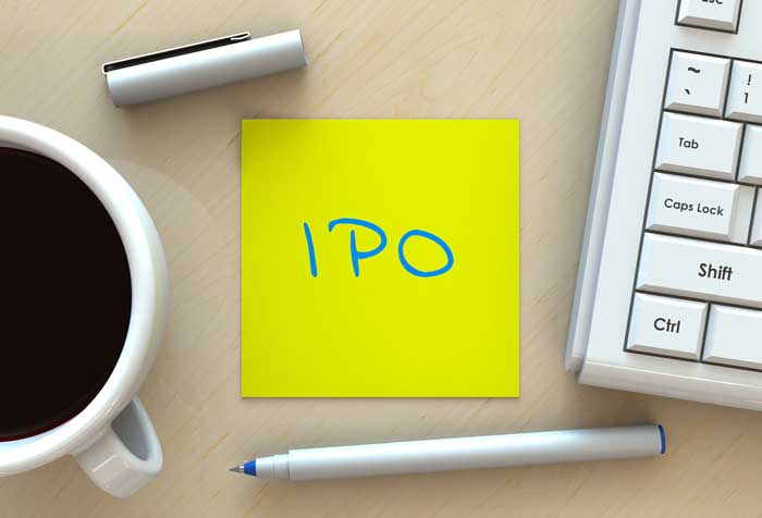 IPO yellow post it note