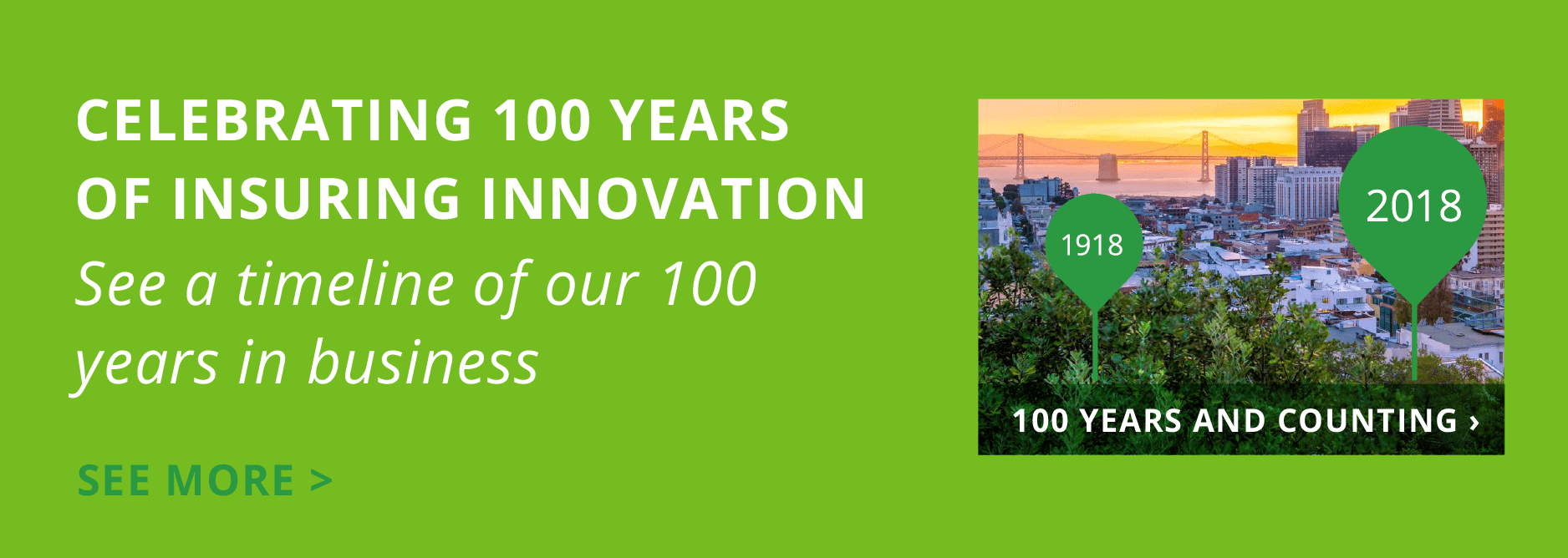 Woodruff Sawyer celebrates 100 years of Insuring Innovation. Click to read more.