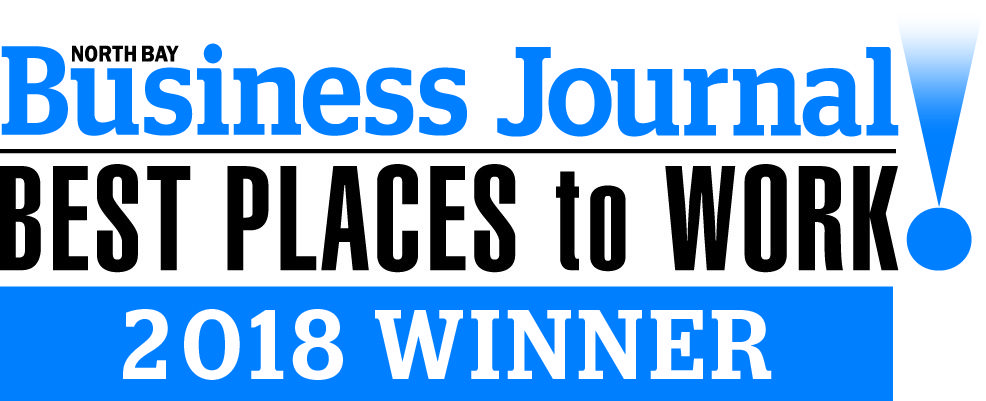 North Bay Business Journal Best Places to Work 2018 Award Badge