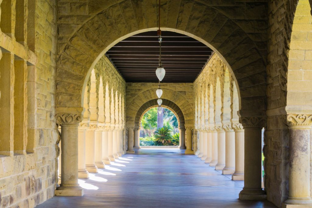 Collonade Hallway at Stanford