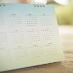 Image of a 12-Month Desk Calendar