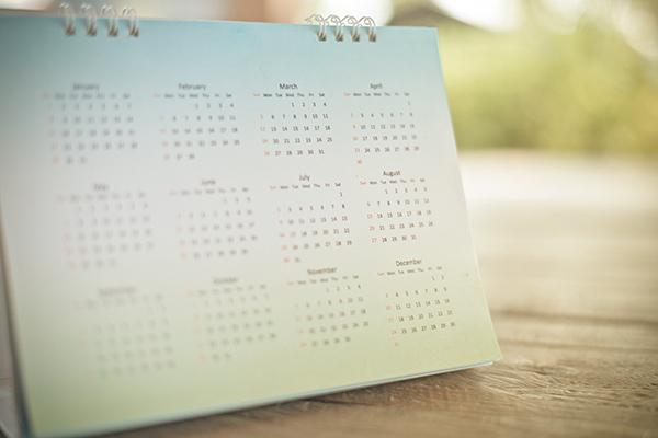 Image of a 12-Month Desk Calendar