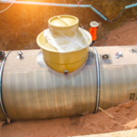 Underground storage tank (UST) containing fuel