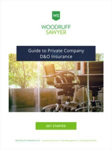 Cover page of 2020 Private Company D&O Insurance Guide