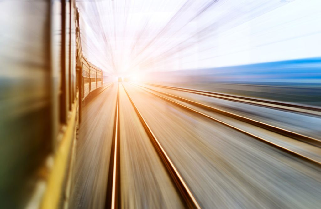 High-speed train passing by
