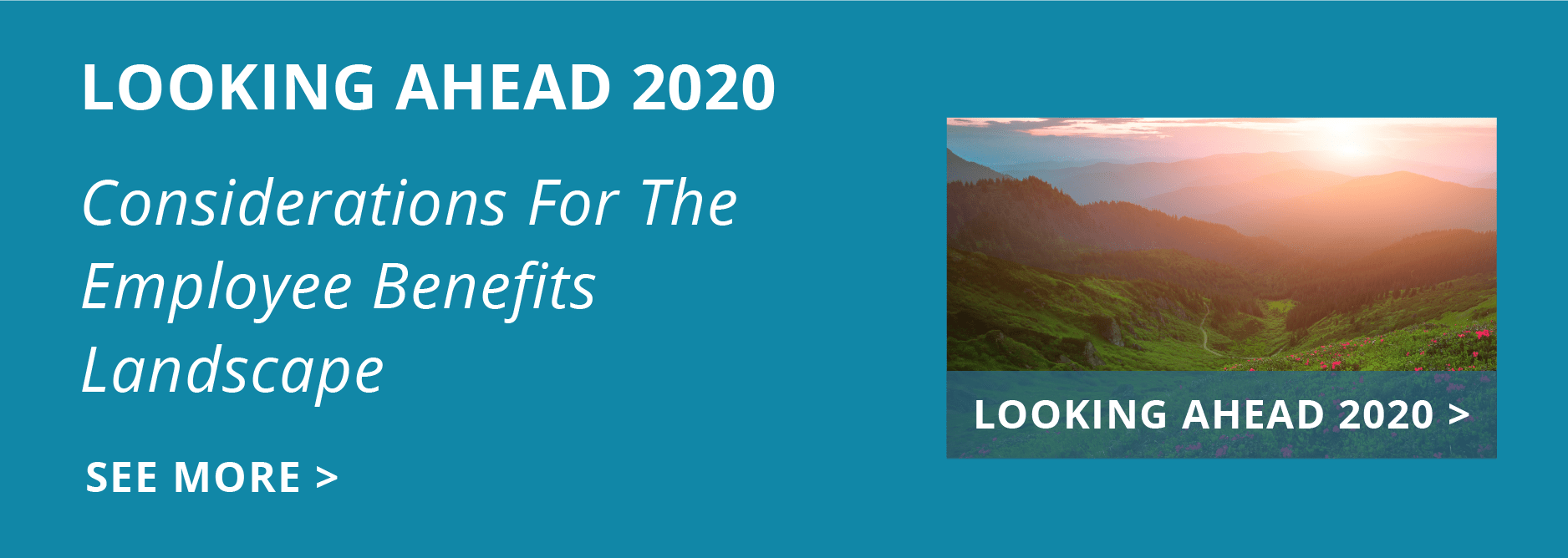 Looking Ahead: Considerations for the Employee Benefits Landscape in 2020