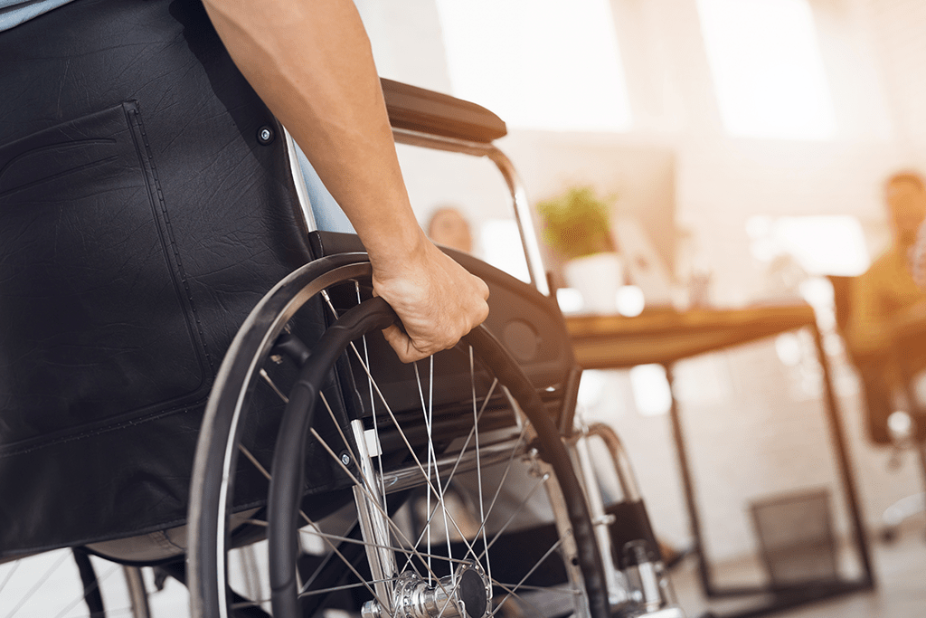 Person operating wheelchair
