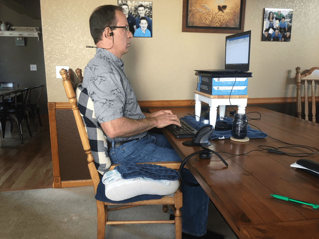Stephen Glazier Temporary Home Ergonomic Office Desk