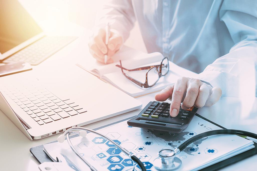doctor healthcare costs calculator stethoscope