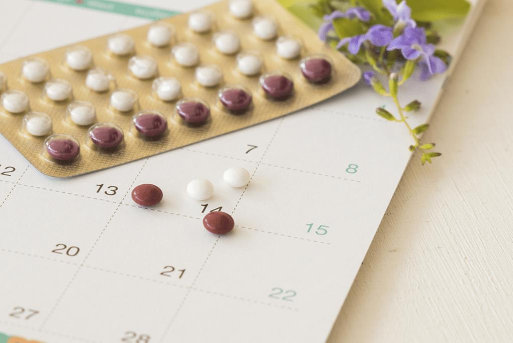 Contraceptive pills calendar
