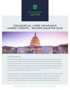 Commercial Lines Insurance Update Q2 2020 Cover