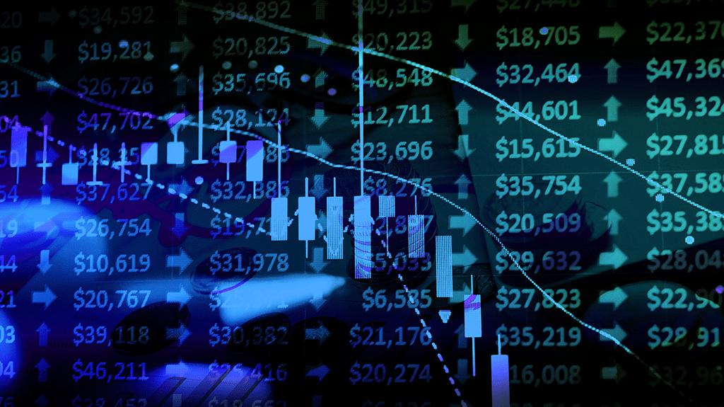 Stocks financial market graphs