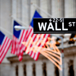 Image of Flags Flying on Wall Street