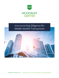 Insurance Due Diligence for Middle Market Transactions Guide Cover