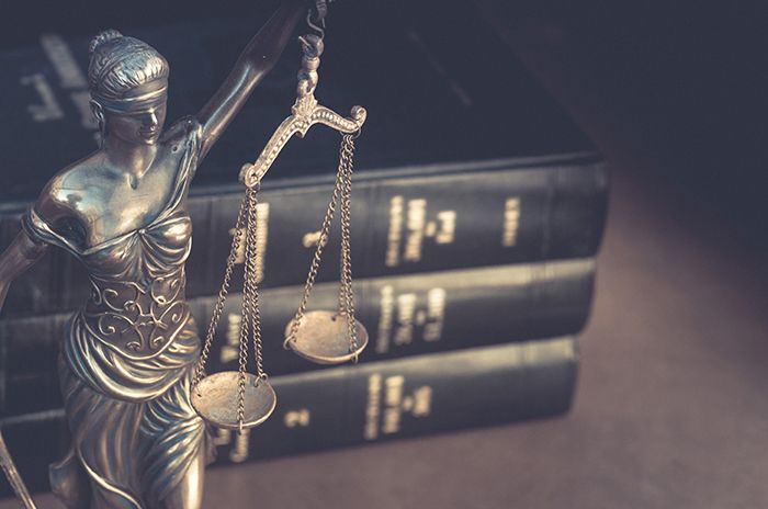 Lady justice legal books
