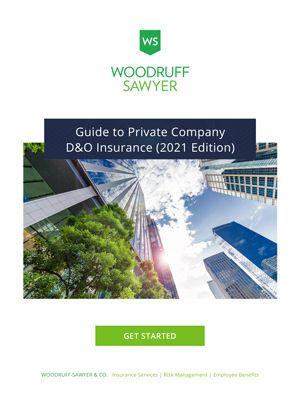 Private Company D&O Insurance Guide Cover 2021