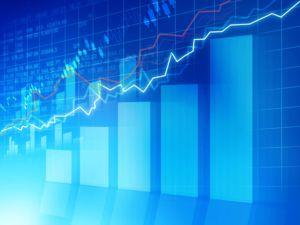 bar graph stocks line graph