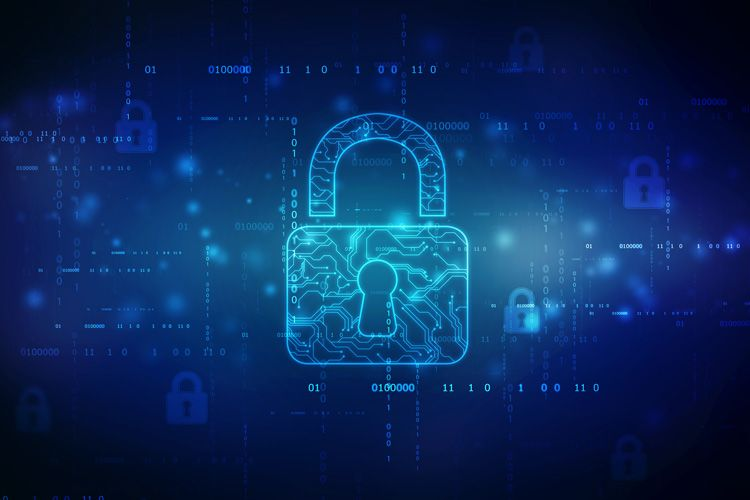 blue lock vector cyber