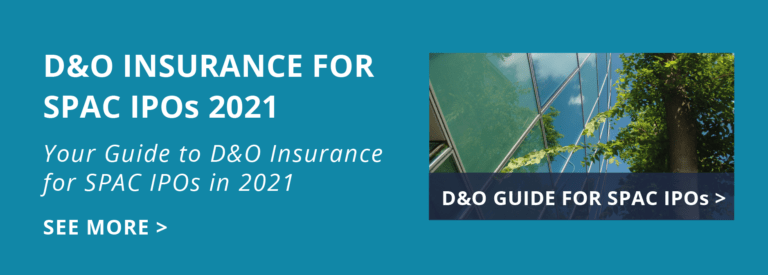 D&O Insurance for SPAC IPOs 2021 Homepage tile