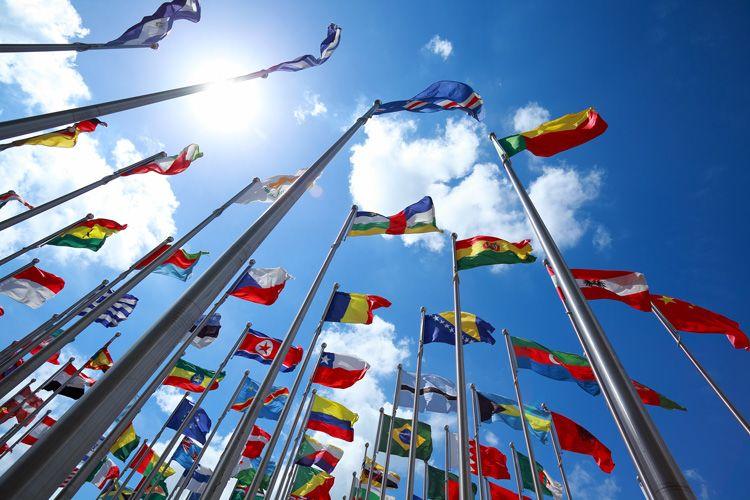 international flags sun