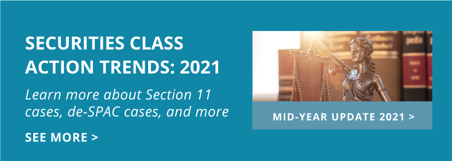 Securities Class Action Databox Mid Year Update Homepage Tile