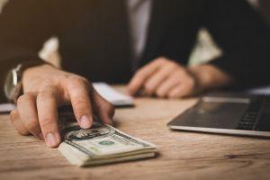 money payment businessman